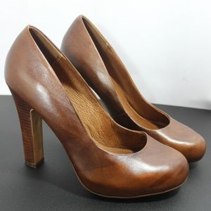 Aldo wooden heel marble pattern leather 8.5